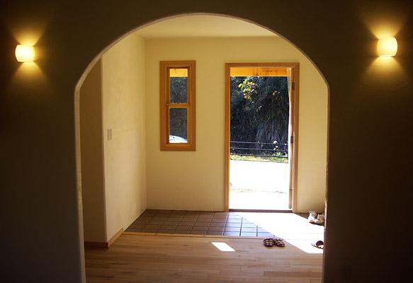 ゆったりとした玄関