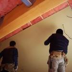 カフェ天井の石膏ボード