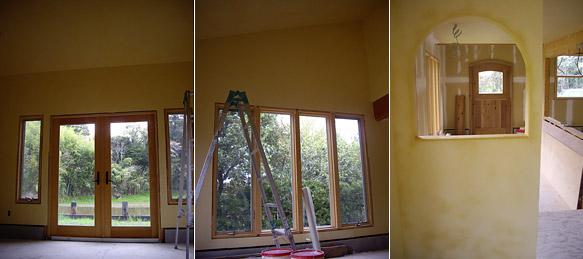 カフェの漆喰