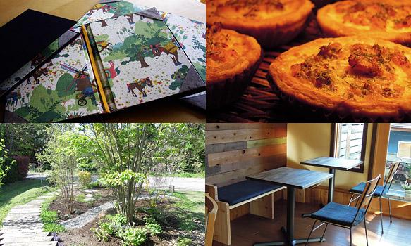 キッシュ、庭、メニューや座面のファブリック。これまで残してくれたものは、これから先もホタルカフェとともに歩み続けます